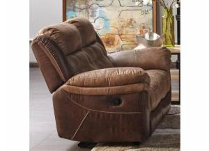 Cheers Two Tone Reclining Love Seat