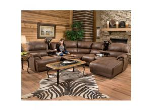 Empire Power Reclining Sectional with Massage and Chaise