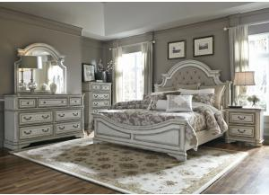 Magnolia Manor King Bed, Dresser, Mirror and Night Stand