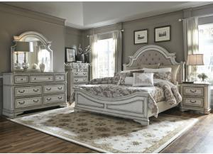 Magnolia Manor Queen Bed, Dresser, Mirror and Night Stand