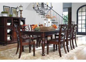 Porter Rect Table and 6 Side Chairs